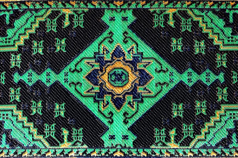 刺绣图象绿色模式 库存图片