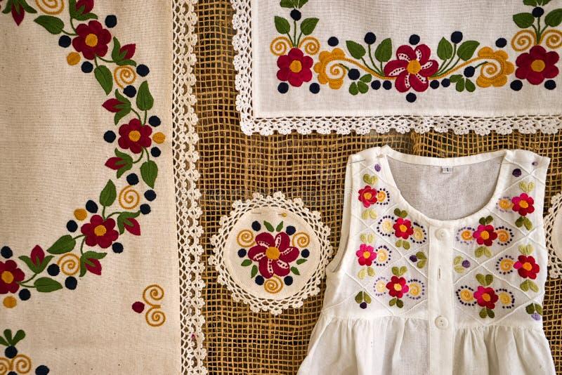 刺绣特写镜头在Zuleta,厄瓜多尔 免版税库存图片