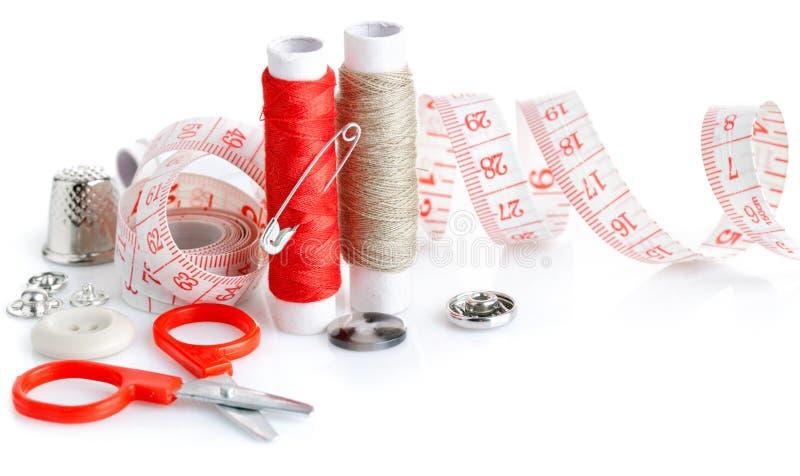 刺绣用品剪刀线程数工具 库存图片