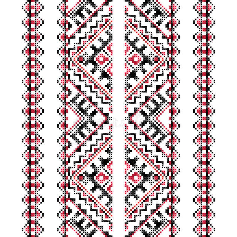 刺绣 乌克兰国家装饰品 皇族释放例证
