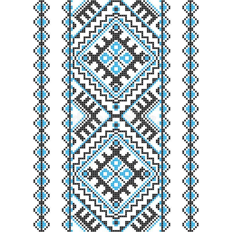 刺绣 乌克兰国家装饰品 库存例证