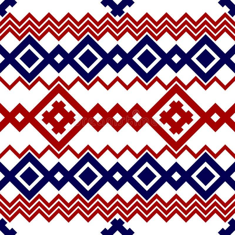 刺绣或编织俄国和乌克兰全国无缝的样式 皇族释放例证