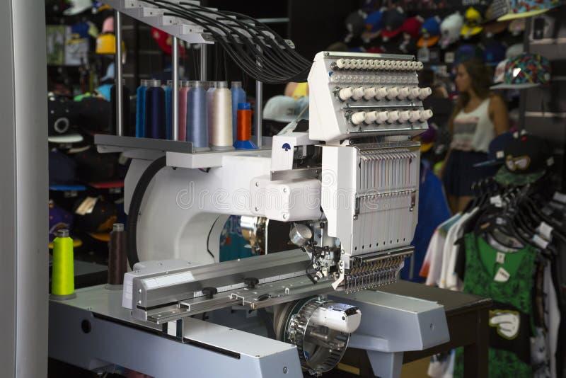 刺绣机器 库存图片