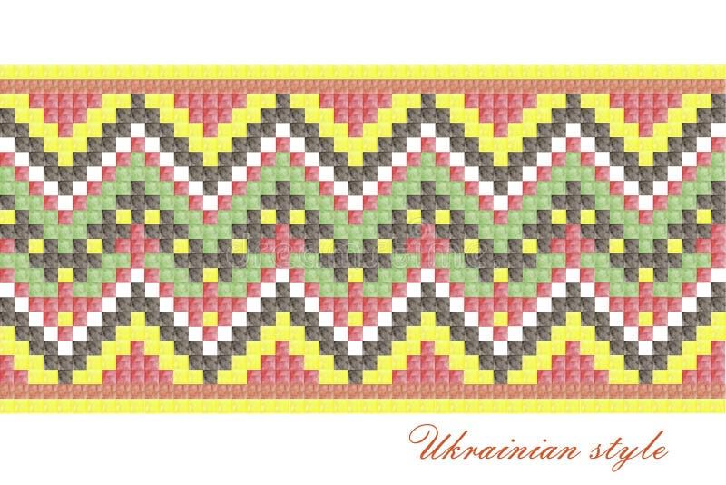 刺绣的,装饰乌克兰全国样式 皇族释放例证