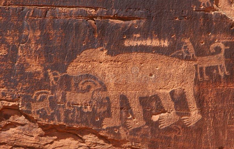 刻在岩石上的文字 免版税库存图片