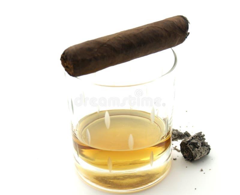 刻痕的雪茄 免版税库存图片