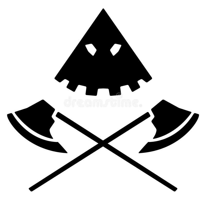 刽子手象征 皇族释放例证