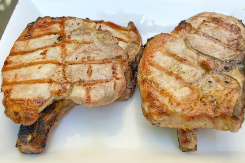 剁烤了猪肉 库存照片