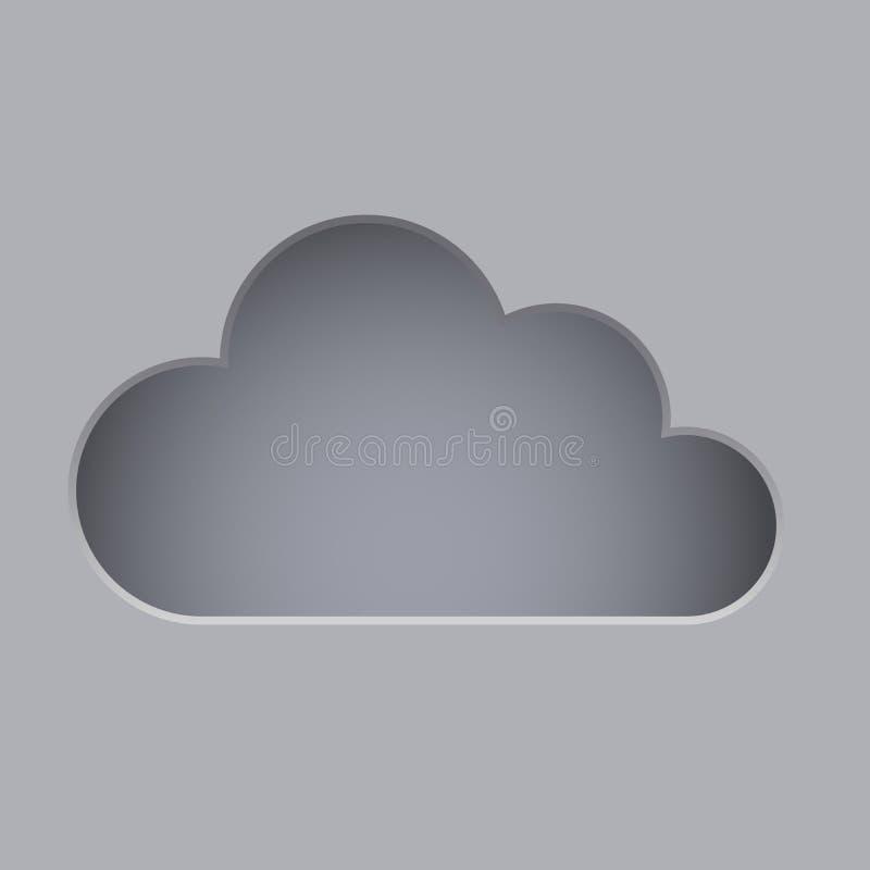 削减云彩形状 向量例证