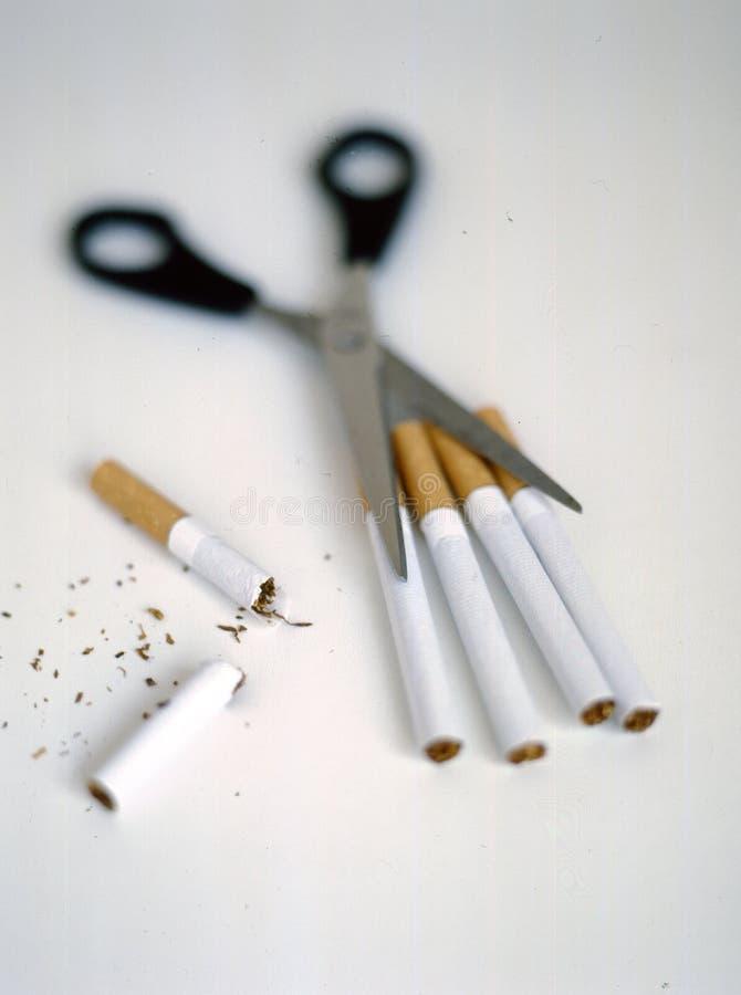削减抽烟 免版税库存图片