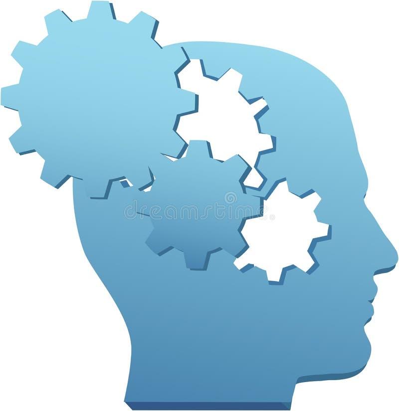 削减齿轮创新头脑技术认为 皇族释放例证