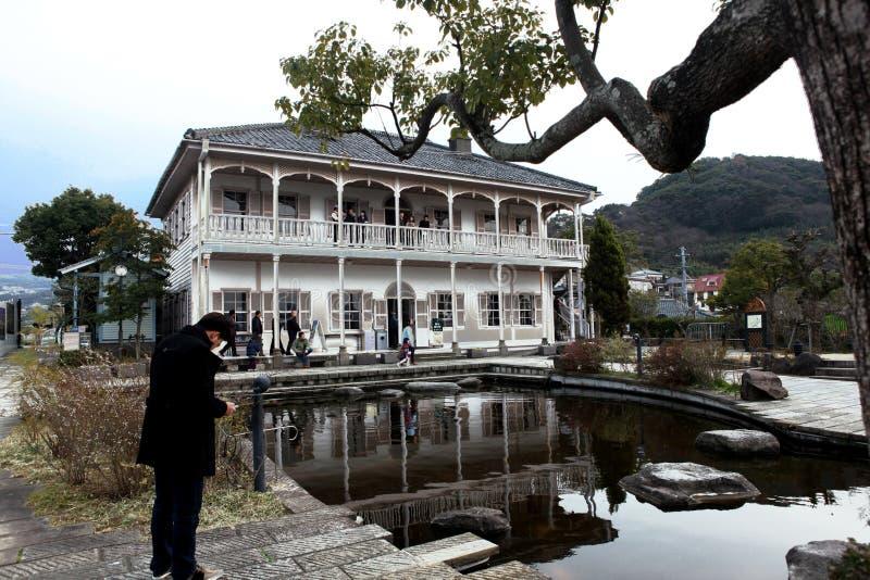 前三菱第二船坞房子在手套贩卖商庭院,长崎里 图库摄影