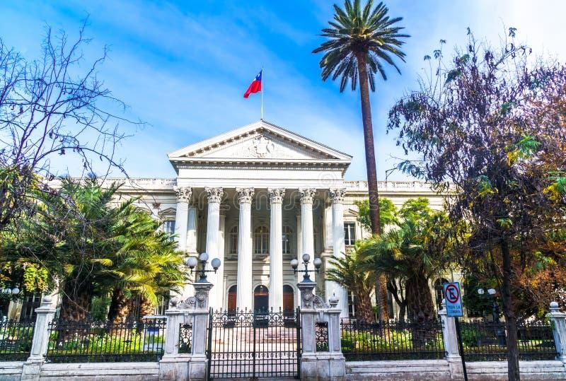 前全国代表大会大厦在圣地亚哥de智利 库存照片