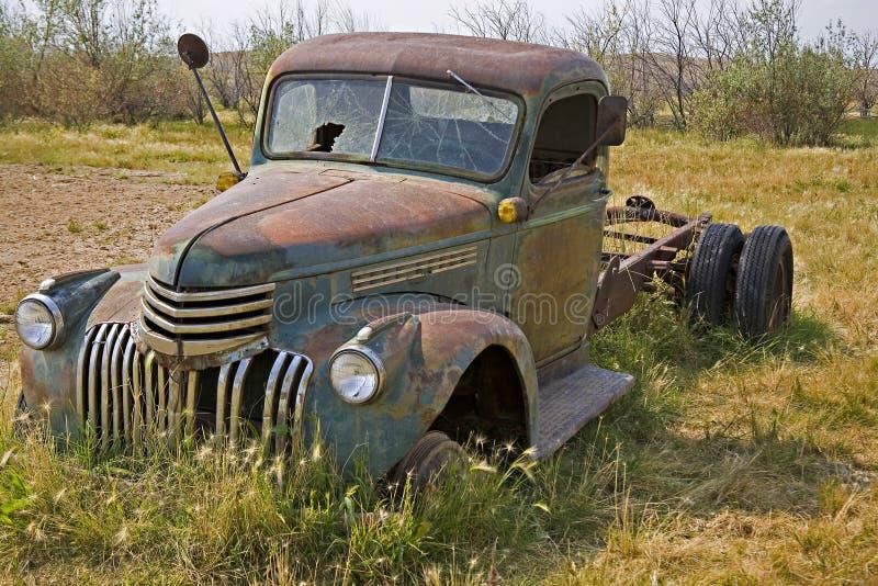 前农厂长的大农场卡车 库存照片