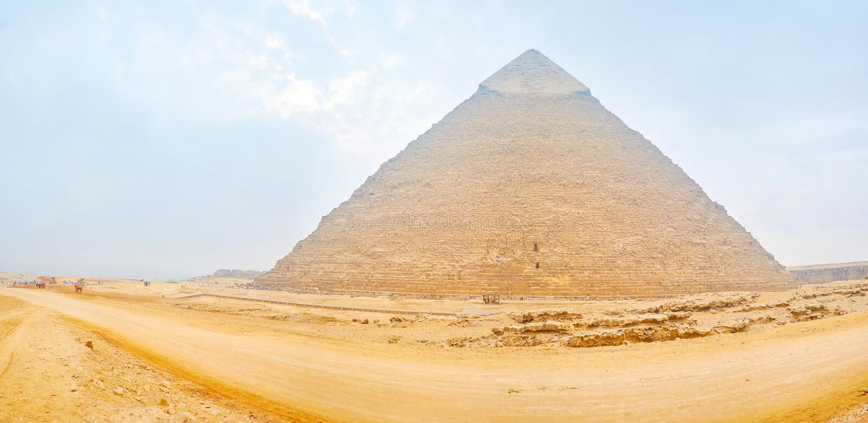 前埃及王国,吉萨棉复合体remainings  免版税库存图片
