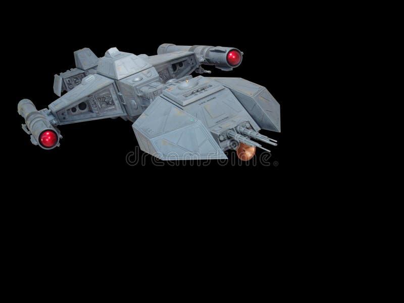 前太空飞船视图 免版税库存照片