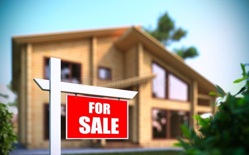 前家庭房子新的销售额符号 库存例证