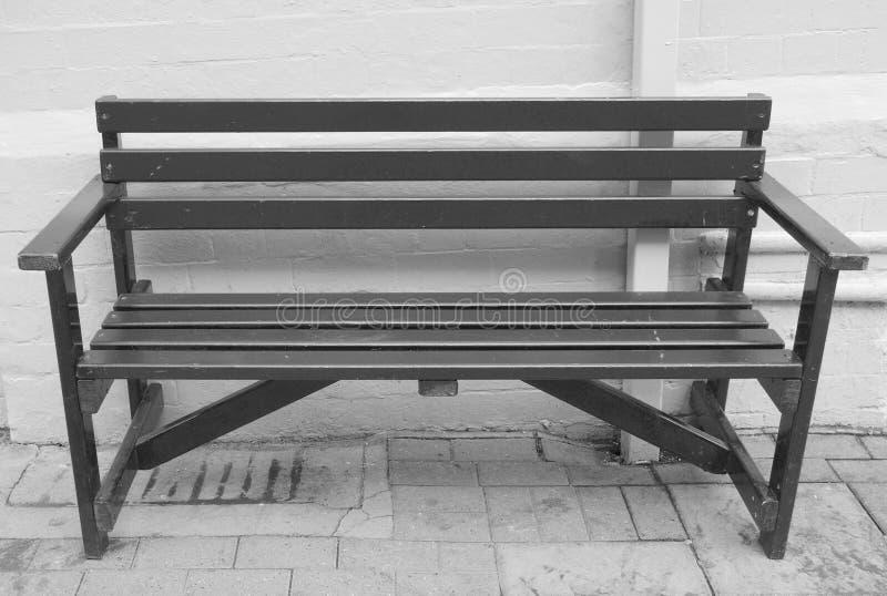 黑前座统排椅 库存照片