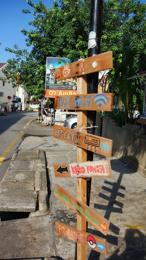 前往到处槟榔岛的标志 免版税库存图片
