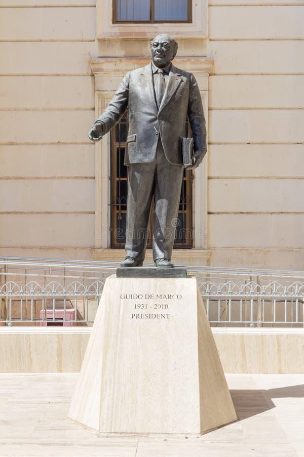 前总统雕象  库存图片