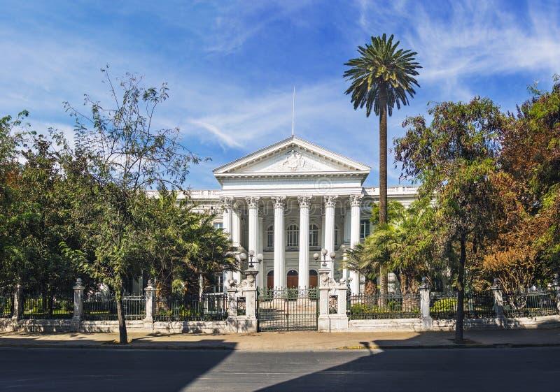 前智利国会大厦-圣地亚哥,智利 免版税图库摄影