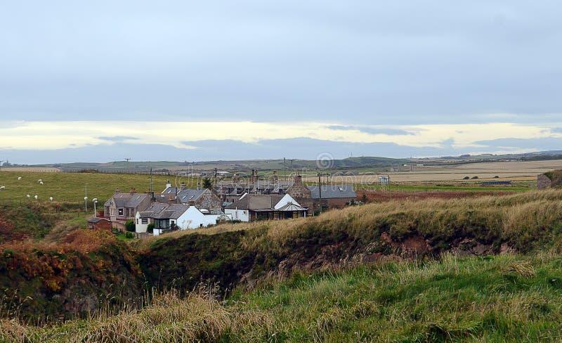 前渔村巴肯Bullers,阿伯丁郡,苏格兰 库存图片