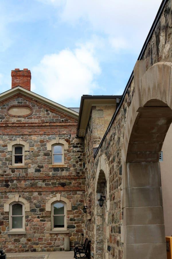 前滑铁卢县监狱在基奇纳,安大略 免版税库存图片