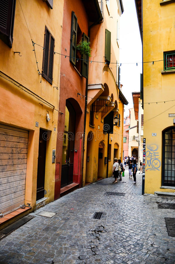 前犹太少数民族居住区,波隆纳意大利 免版税图库摄影