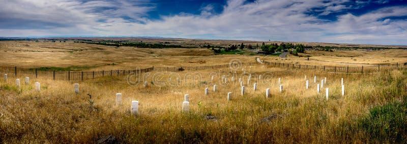 前立场小山- Custer ` s为时立场 免版税库存照片