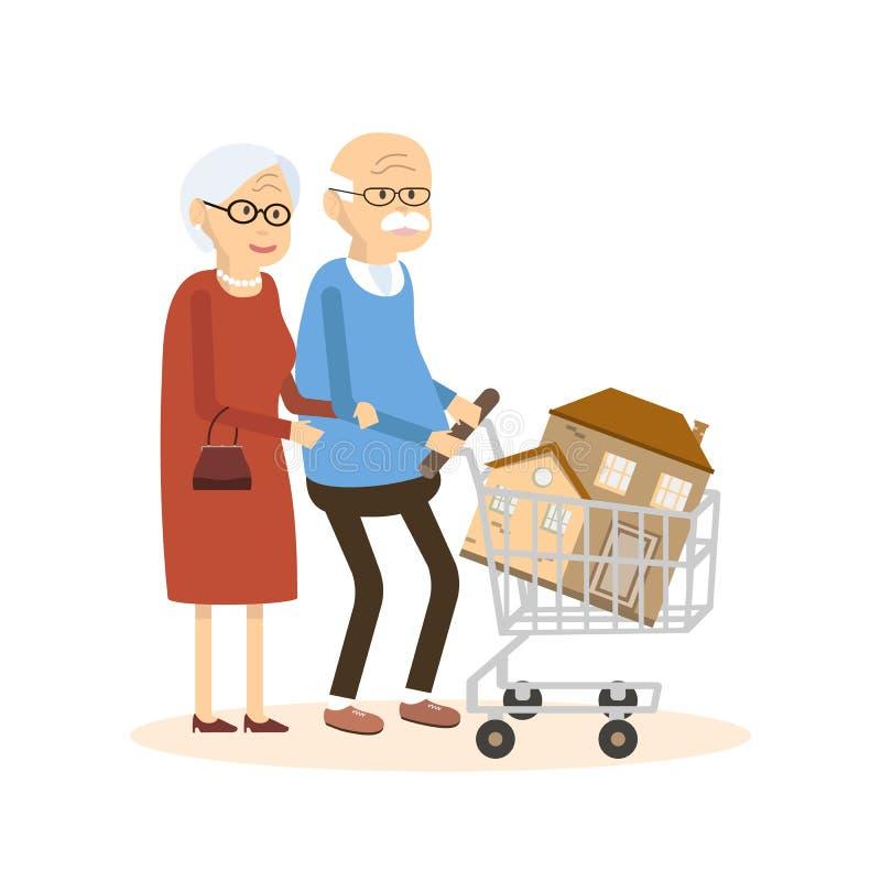 前辈结合买家 向量例证