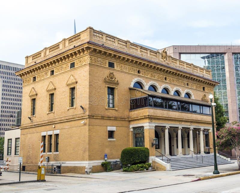 前邮局在街市巴吞鲁日 免版税库存图片