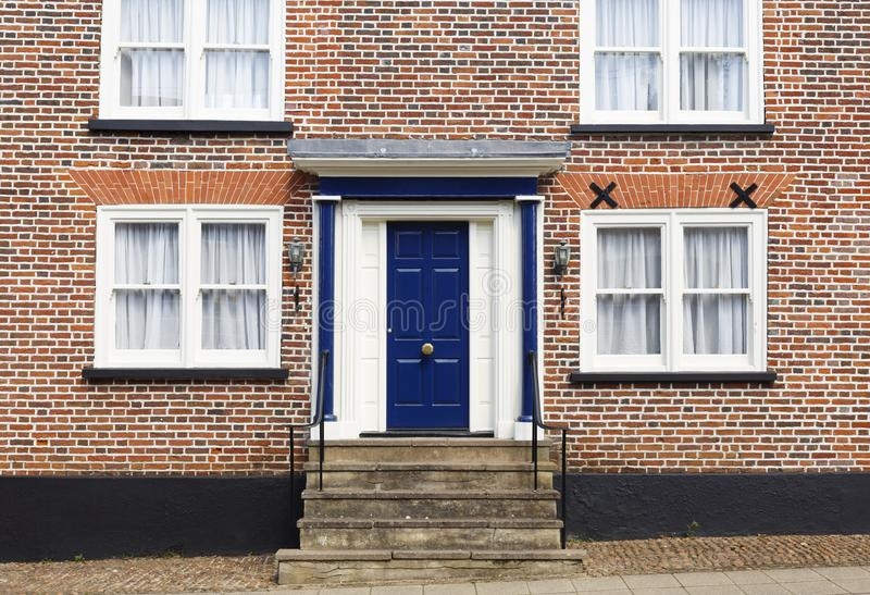 前门传统砖房子 库存照片