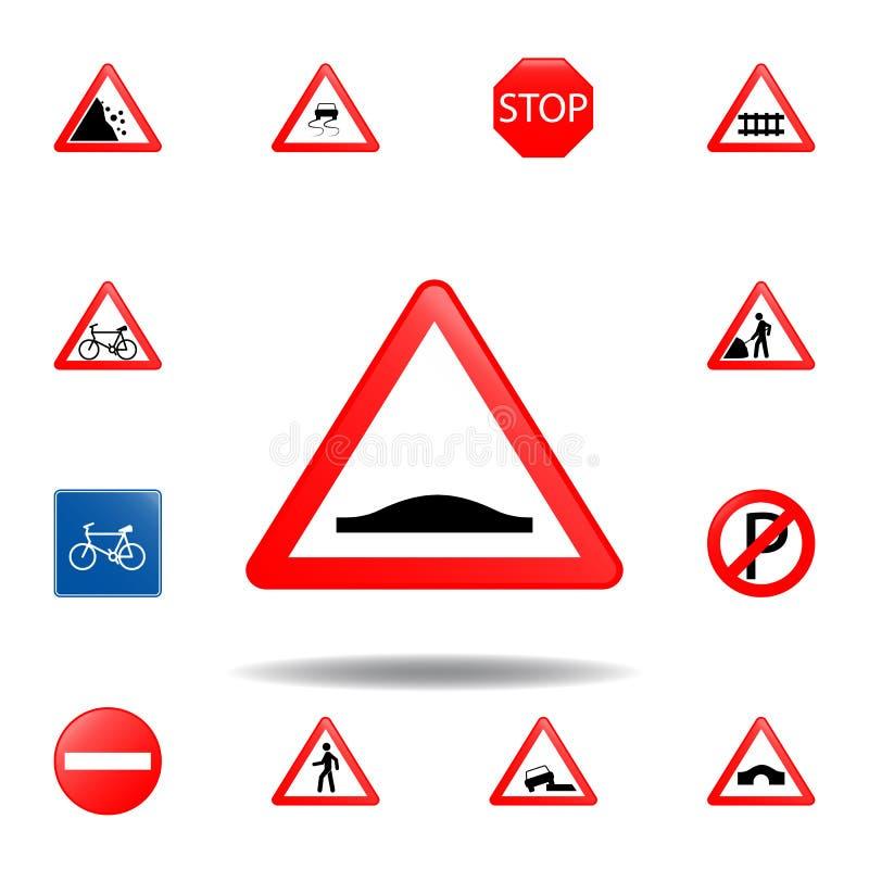 前面小丘象 设置流动概念和网应用程序的路标象 前面色的小丘象可以为网和机动性使用 库存例证