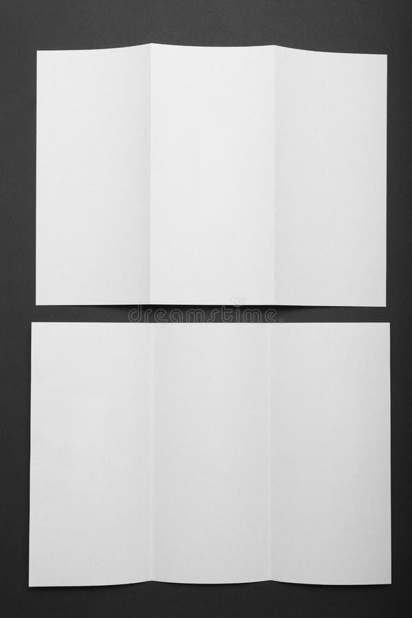 前面小册子纸传单 DL飞行物三部合成的大模型 免版税图库摄影