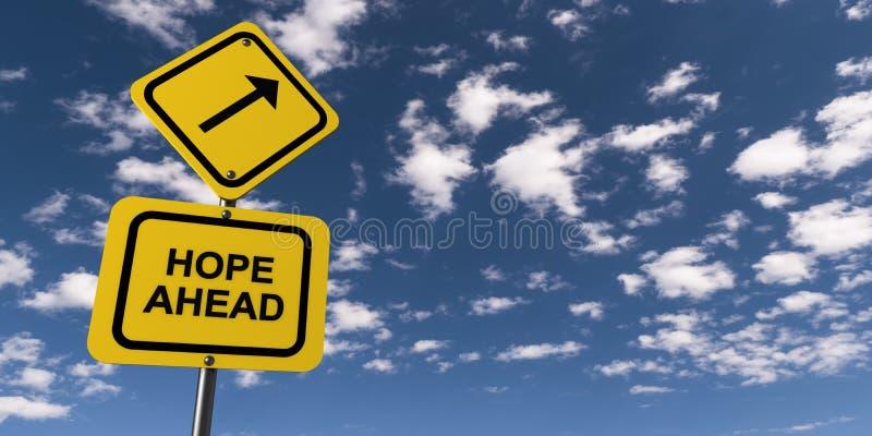 前面希望 向量例证