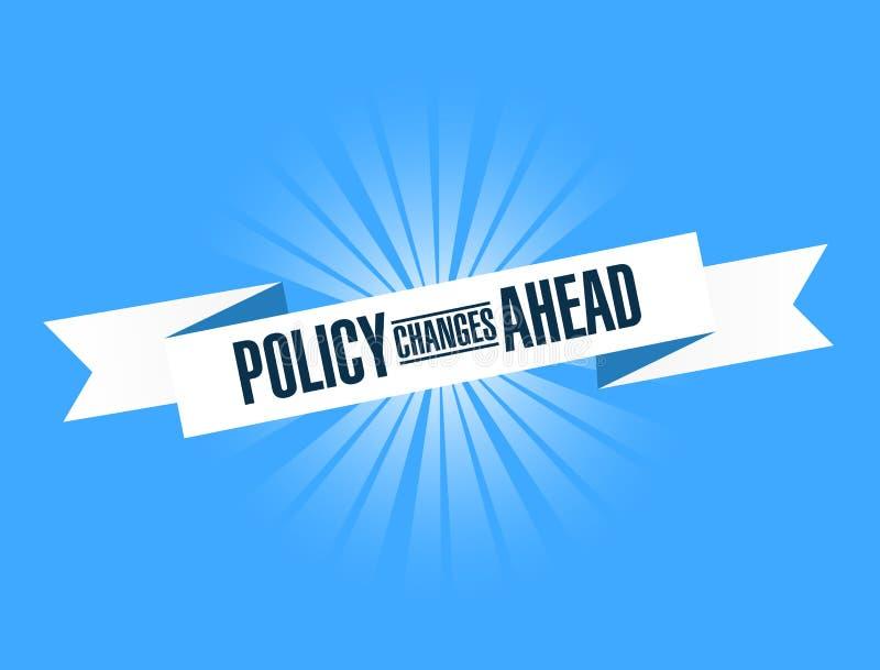 前面政策变化明亮的丝带消息 向量例证