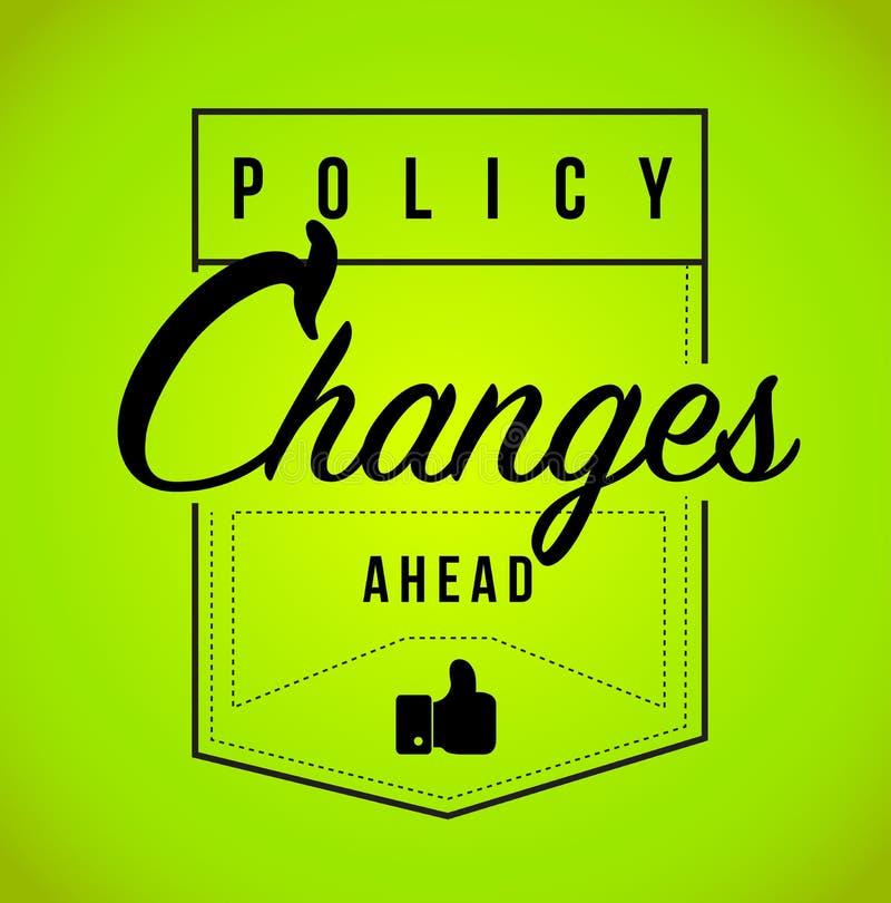前面政策变化现代邮票消息 库存例证