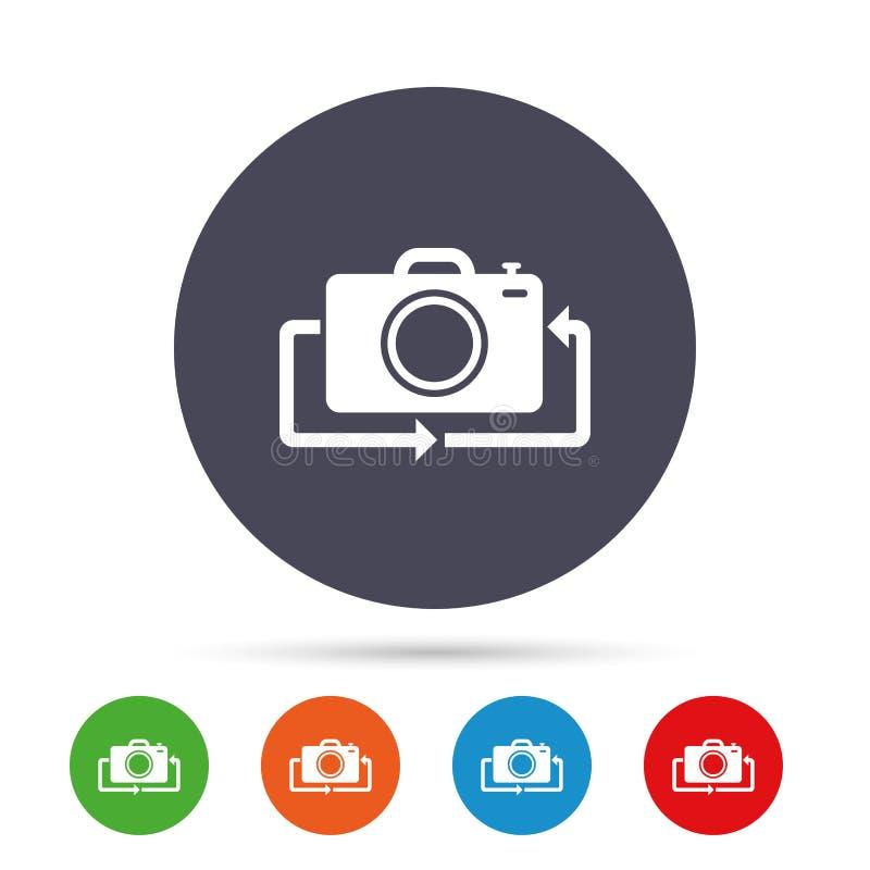 前面照片照相机标志象 更改符号 向量例证