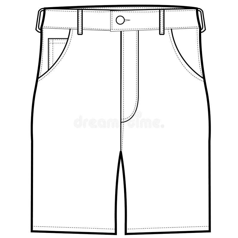 前面短裤传染媒介 皇族释放例证