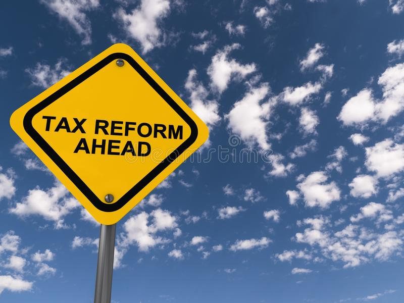 前面税收改革 向量例证
