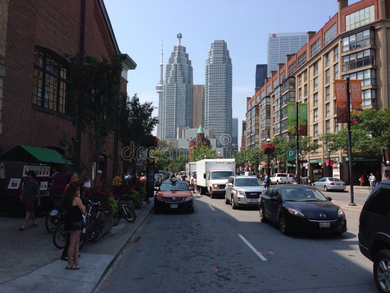 前面街道街市多伦多 免版税库存图片