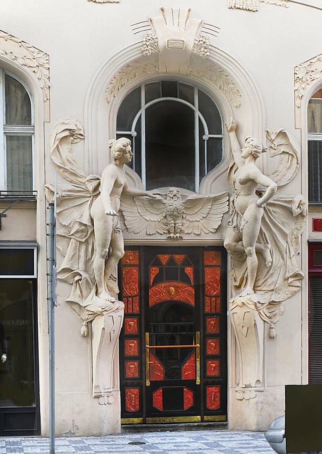 前面门面,入门大厦 图库摄影