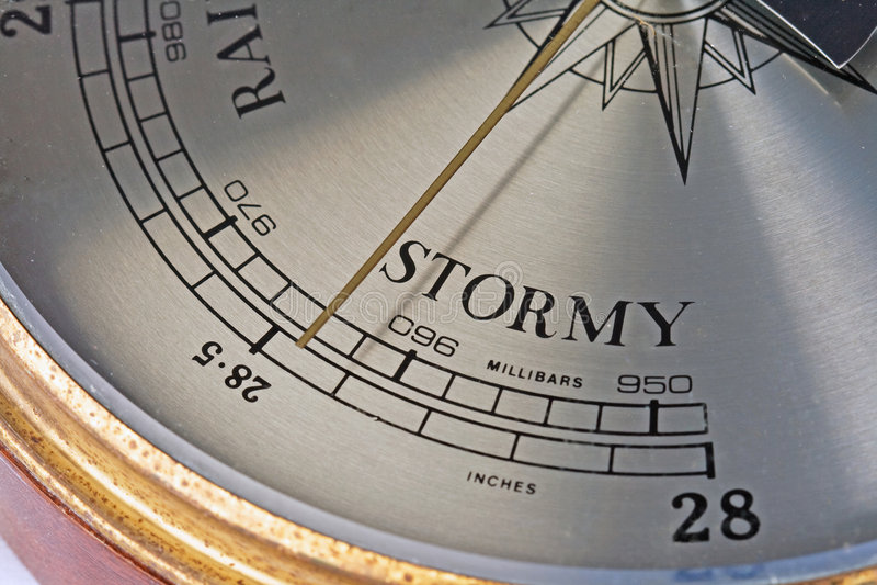 前面风雨如磐的时期 免版税库存图片