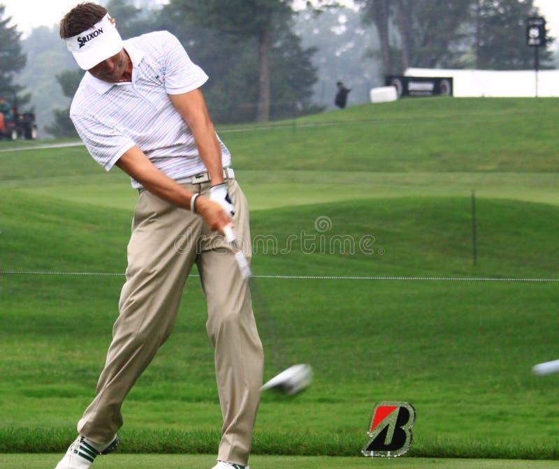 前高尔夫球运动员罗伯特・阿伦比 库存照片