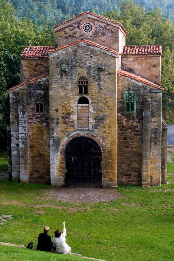 前asturian罗马式 库存照片