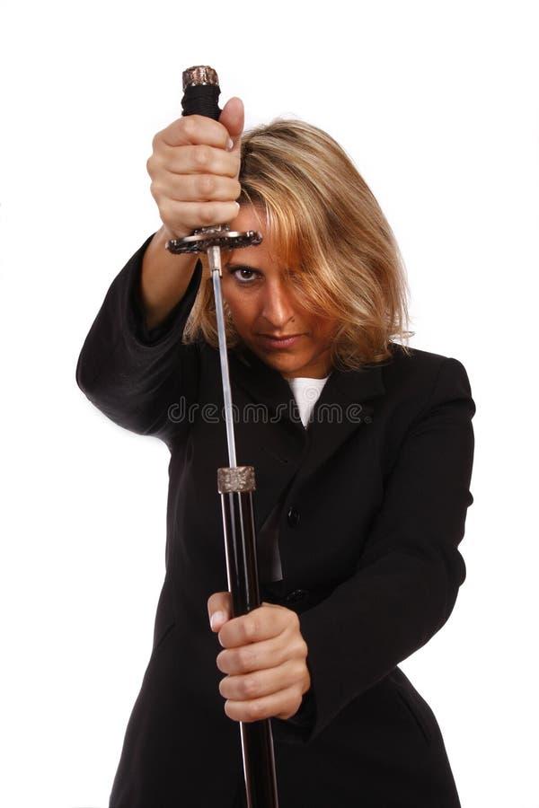 剑妇女 库存图片