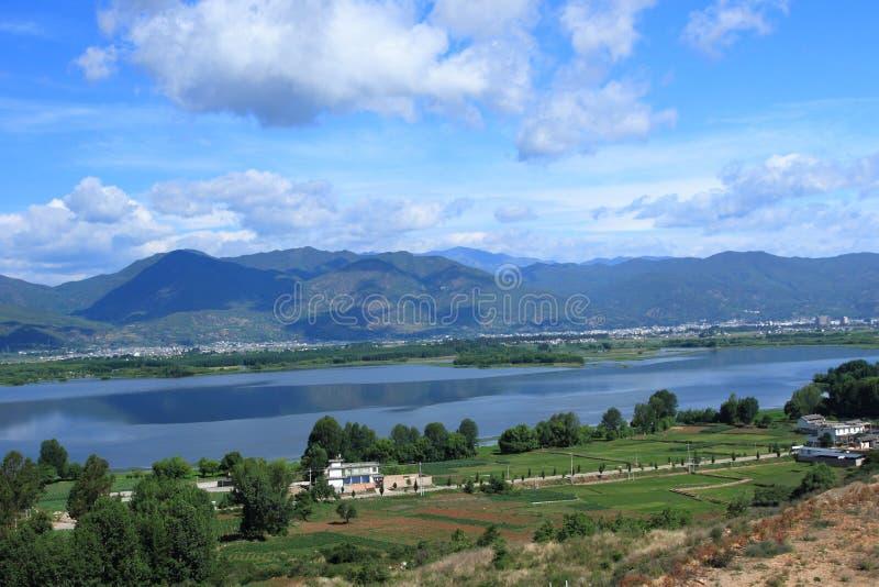 剑川县剑湖省风景区 图库摄影