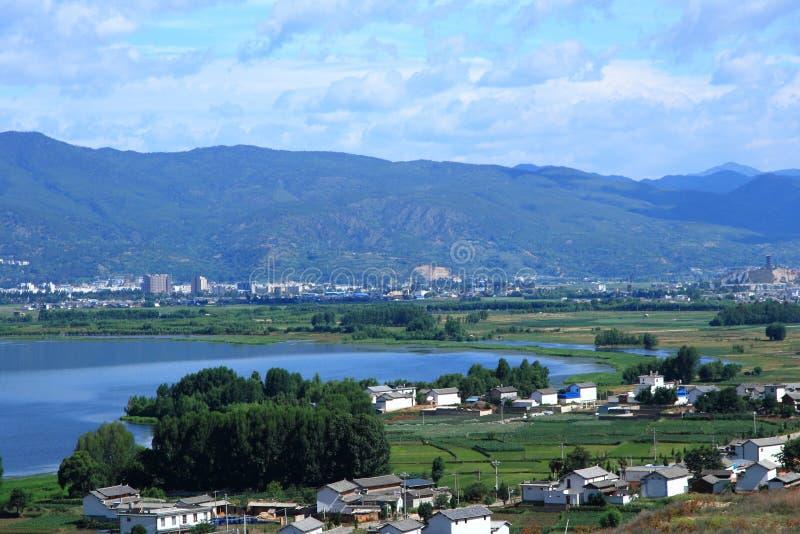 剑川县剑湖省风景区 库存图片