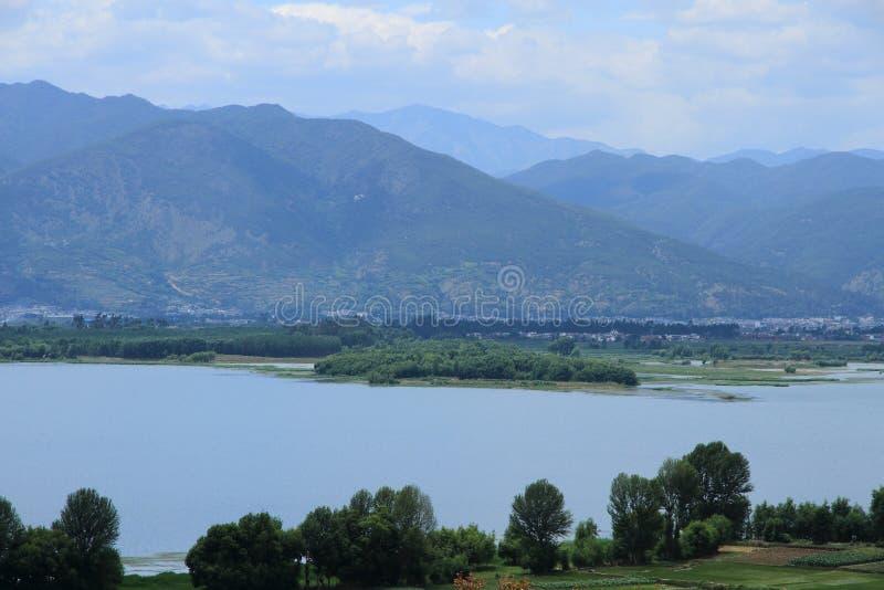 剑川县剑湖省风景区 免版税库存照片