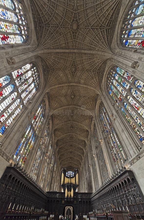 剑桥唱诗班学院国王大学 免版税库存图片